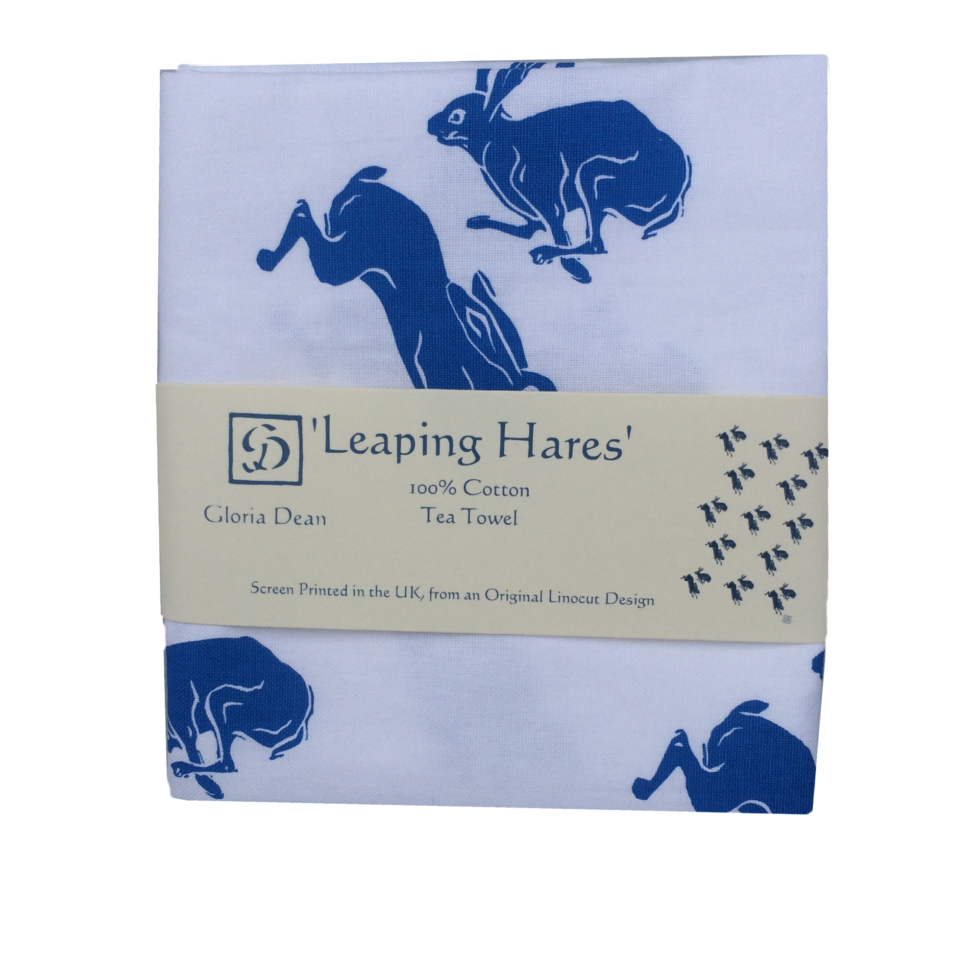 Leaping Hare Cotton Tea Towel